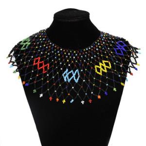 Bohemia Ethnic Handmade Colorful Beaded Statement Choker Bib Neckalce Jewelry