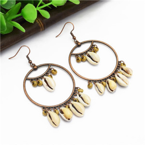 E-4888 3 Colors Trendy Simple Style Shell Drop Earring For Women Jewelry Design