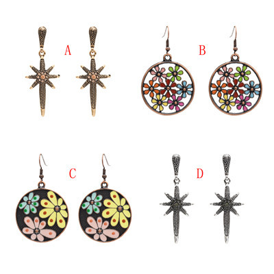 E-4895 Trendy  Big Round Drop Hook Earring  Starfish Stud Earring For Women Jewelry Design