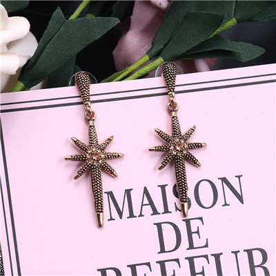 E-4895 Trendy  Big Round Drop Hook Earring  Starfish Stud Earring For Women Jewelry Design