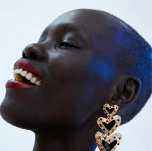 E-4886 Multilayer Love Heart Acrylic Rhinestone Big Drop Earrings Artificial Pearls Pendant Earring Wedding Bride Ear Jewelry