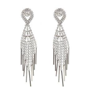 E-4897 Lightweight Tassel Waterdrop Drop Earrings Multilayer Rhinestone Earring for Bride Jewelry Valentine's Day Gift