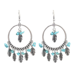 E-4907 2 Styles Bohemian Vintage Silver Drop Tassel Earring For Women Jewelry Design