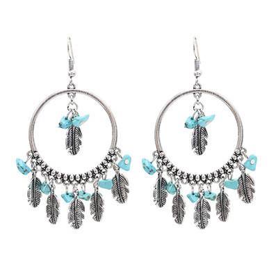 E-4907 2 Styles Bohemian Vintage Silver Drop Tassel Earring For Women Jewelry Design