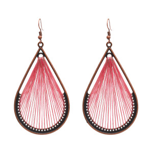 E-4913 Creative Winding Thread Earrings Hollow Out Big Waterdrop Dangle Drop Earrings Geometric Earrings