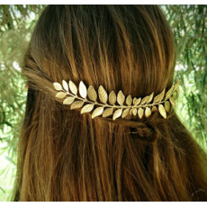 F-0533 New Fashion Gold Silver Metal Leaf Hair Comb Wedding Party Hair Accessories