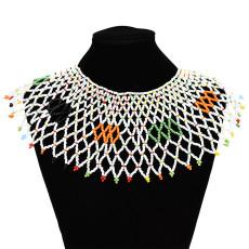 N-7126 Handmade Ethnic Choker Necklace Bib Collar Beads Statement Necklaces Boho Jewelry for Women