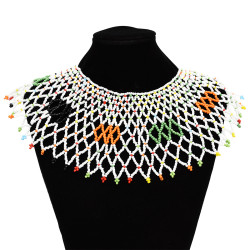 N-7126 Handmade Ethnic Choker Necklace Bib Collar Beads Statement Necklaces Boho Jewelry for Women