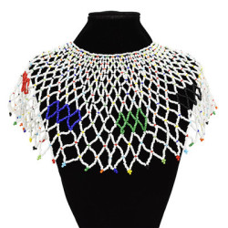 N-7134 Handmade Ethnic Choker Shawl Bib Collar Beads Statement Shawl Boho Jewelry For Women