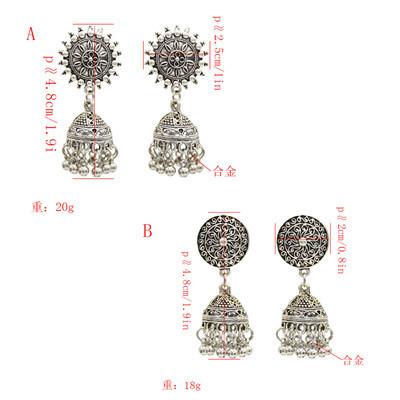 E-4933 Vintage Silver Tassel Drop Dangle Earrings For Women Jewelry Design