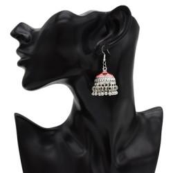 E-4930 4 Colors Vintage Silver Tassel Drop Dangle Flower Earrings For Women Jewelry Design