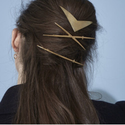 F-0556 3pcs/set Fashion Gold hairpin Hair Clip jewelry For Women Headpiece Jewelry
