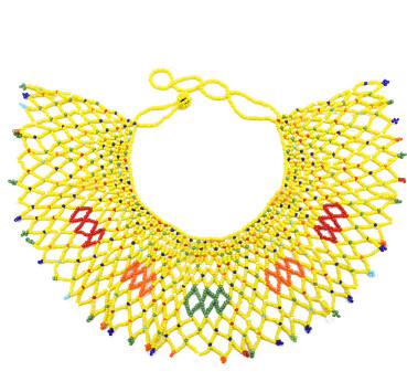 N-7137 Handmade Resin Beads Bib Statement Necklaces for Women Boho Party Jewelry Gift