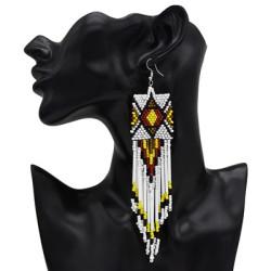 E-4990 Long Tassel  Drop Earrings Multilayer Earring for Bride Jewelry Valentine's Day Gift