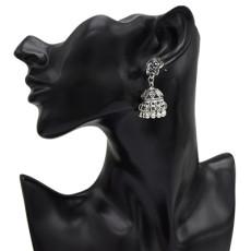 E-4992  2 Color Flower Alloy Bells Statement Earrings for Women Boho Wedding Party Jewelry