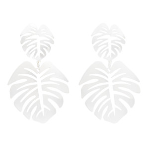 E-4993 Fashion Women's Earrings Hollow Big Leaves Beach Drop Earrings Stud