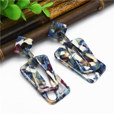 E-4994 4 Colors Acrylic Amber Pattern Earrings For Women