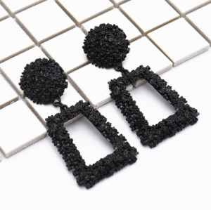 E-5007 Fashion Drop Earrings Geometric Square Stud Earring for Women Bijoux Jewelry