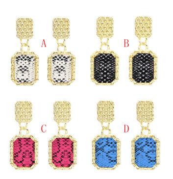 E-5006  4 Colors Gold Metal Geometric Shape Drop Earrings for Women Bohemian Party Jewelry Accessories