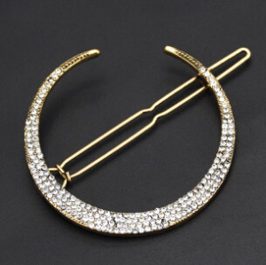 F-0565 3Pcs /Set Vintage Gold Metal Star Moon Rhinestones Hair Clip for Women Hairpins Hair Accessories Ornaments