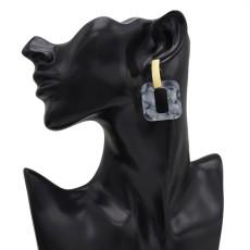 E-5014 3 Colors Acrylic Geometric Amber Pattern Earrings For Women