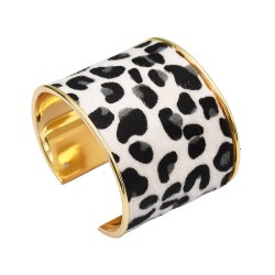 B-0919 Turkish 2 Colors Trendy Unique Leopard Cuff Bracelet& Bangle For Women Jewelry Design