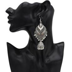 E-5044 4 Colors Boho Silver Metal Bells Statement Drop Dangle Earrings for Women Festival Party Jewelry