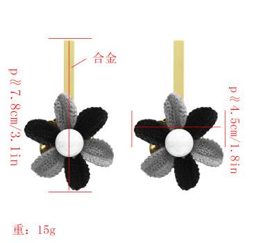 E-5049 New Fashion Gold Metal Flower Shape Drop Earrings for Women Boho Wedding Party Jewelry Gift