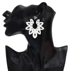 E-5053 4 Colors Trendy Alloy Multicolor  Acrylic Flower drop Earring For Women Jewelry Design