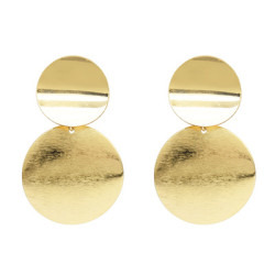E-5063 2 Colors Alloy Double-Layer Disc Simple Atmospheric Earrings