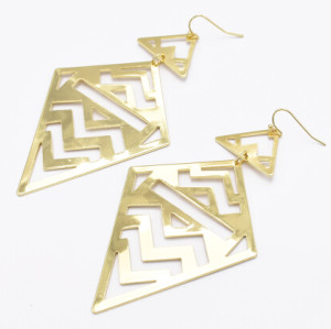 E-5064 2 Color New Fashion Gold Silver Drop Earrings Statement Earring Party Jewelry