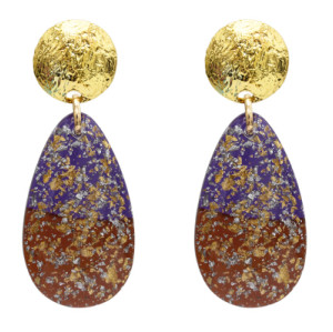 E-5072 Fashion Gold Metal Acrylic Glass Big Drop Earrings for Women Boho Wedding Party Jewelry