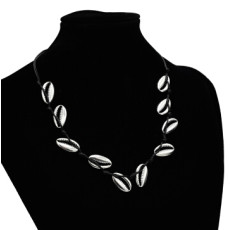 N-7171 Vintage Ethnic Leather Alloy Shell Statement Necklace For Women Fashion Jewerly