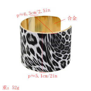 B-0921  * Turkish 2 Colors Trendy Unique Leopard Cuff Bracelet& Bangle For Women Jewelry Design