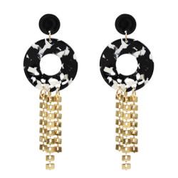 E-5100 2 Colors Fashion Acrylic Alloy Tassel Drop Elegant Earring For Women