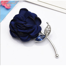 P-0431  4 Style Silver Metal Flower Rhinestone Fashion Brooch For Women Party Jewelry