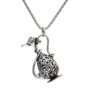 N-7183  2 colors Hollow Teapot Bronze Necklace Long Pendant Necklace for woman Bijoux Jewelry