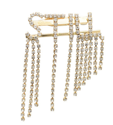 P-0432 Fashion Women Gold Silver Metal Crystal Brooches Dress Scarf Coat Accessories Gift