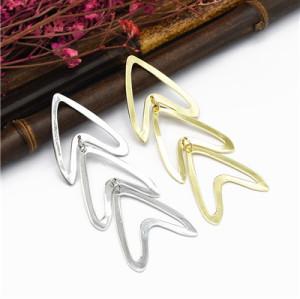 E-5140  Fashion Alloy Statement Earrings Creative Hollow Long Drop Earrings for Women Jewelry