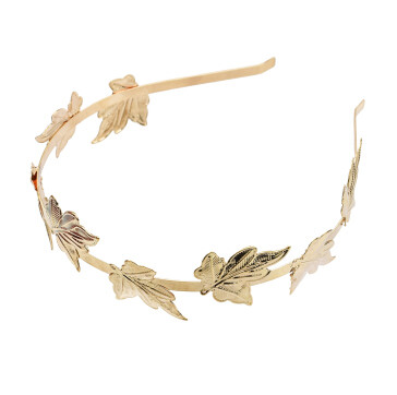 F-0601  Vintage Gold Leaf Hairbands Hair Ornament Headdress Girl Women Hair Jewelry Accessories