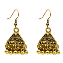 E-5145  Vintage Silver Gold Metal Bells Drop Earrings for Women Boho Party Jewelry