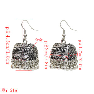 E-5146 Gypsy Vintage Metal Tassel Drop Earrings for Women Wedding Boho Party Jewelry