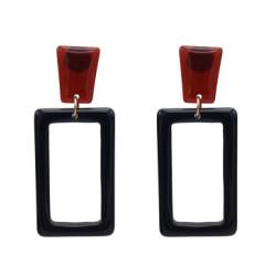 E-5151 Fashion Geometric Square Rectangle Acrylic Alloy Drop Elegant Earring For Women