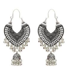 E-5154 Vintage Silver Gold Metal Bells Tassel Drop Earrings for Women Indian Party Jewelry Gift
