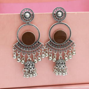 E-5153 6 Colors Vintage Silver Gold Metal Bells Tassel Drop Earrings for Women Indian Party Jewelry Gift