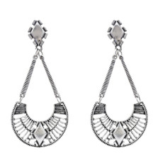 E-5178 Vintage Silver Gold Metal Geometric Drop Earrings for Women Boho Party Jewelry