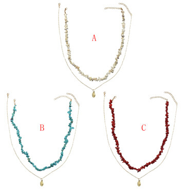 N-7189  Vintage gold Alloy Geometric Shape Necklaces for Women Boho Party Jewelry
