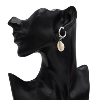 E-5188  2 Colors Circles Hoop Shell Earrings For Women Bijoux Jewelry