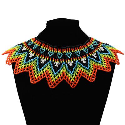 N-7192  Big Coloful Resin Beads Statement Choke Collar Necklace Bohemian  For Women Jewelry