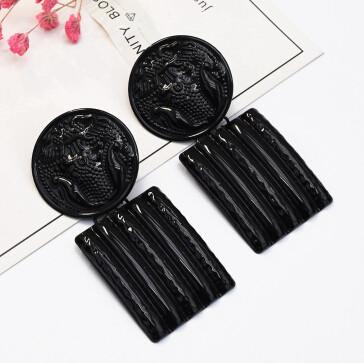 E-5202  Fashion Jewelry Geometric Rectangular Alloy Pendant Earrings For Women Wedding